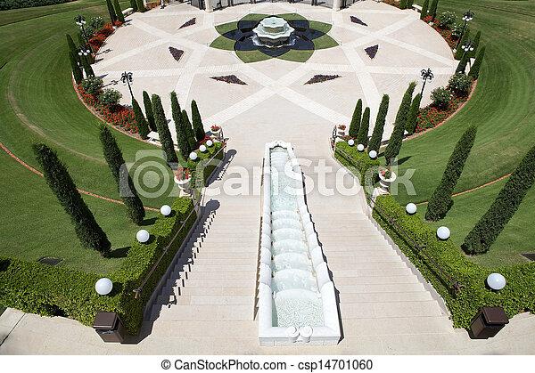 Jardín Haifa bahai - csp14701060