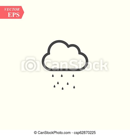Hail icon vector isolated on white background for your web and mobile app design, Hail logo concept - csp62870225