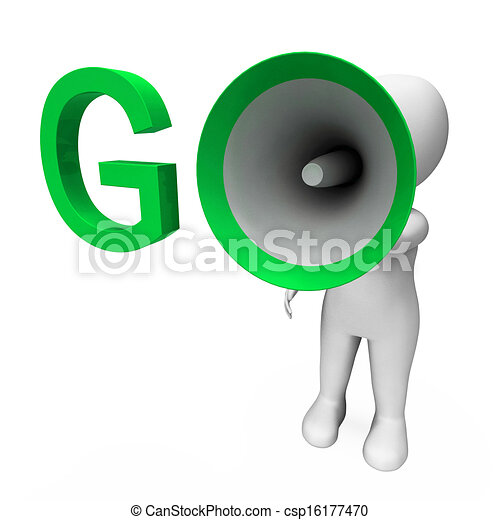 hailer, motivare, inizio, andare, mostra, o, ispirare - csp16177470