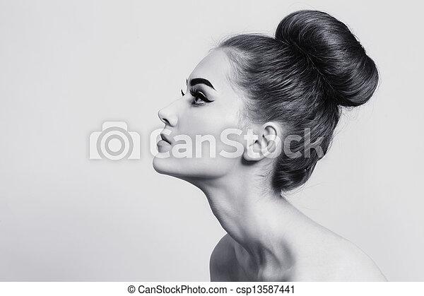 Hair bun - csp13587441