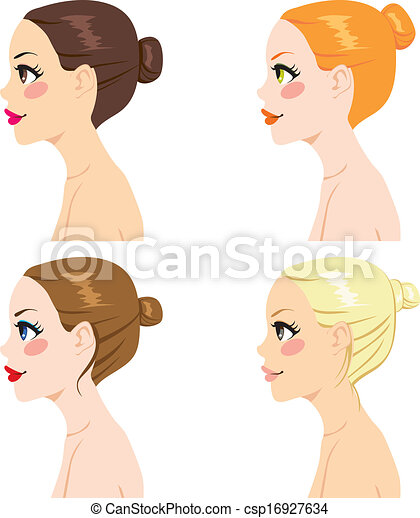 Hair Bun Styles - csp16927634