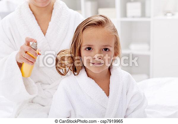 Hair care after bath - csp7919965