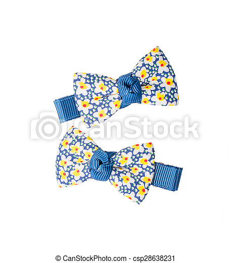 Hair clips on white background - csp28638231