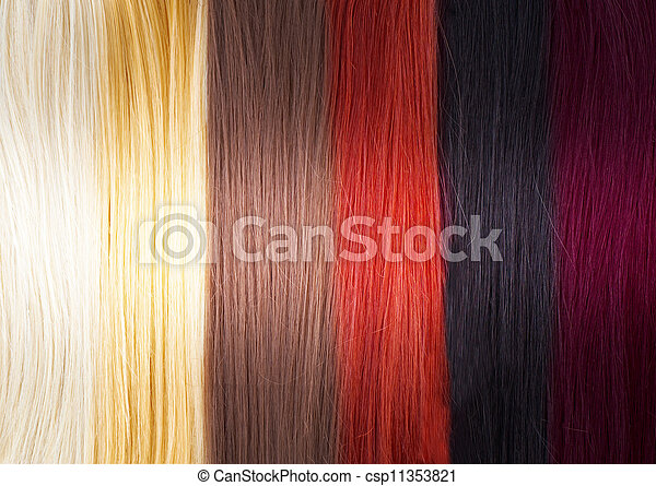 Hair Colors Palette  - csp11353821