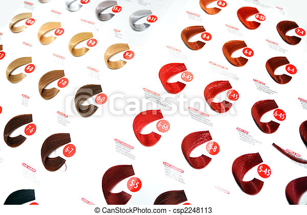 hair colors sample - csp2248113