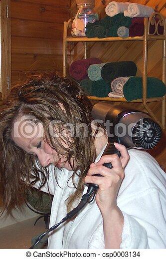 Hair Drying - csp0003134