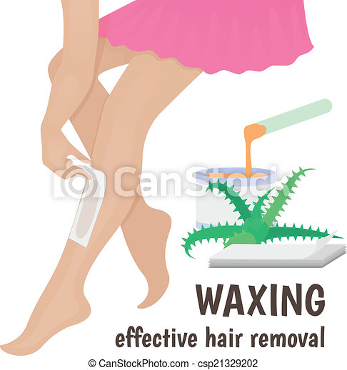 Waxing Wax Woman Anoints His Feet For Hair Removal Vector