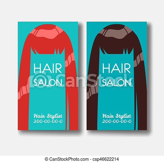 Hair salon business card templates with red hair and brown hairon hair salon business card templates with red hair and brown hairo csp46622214 cheaphphosting Gallery