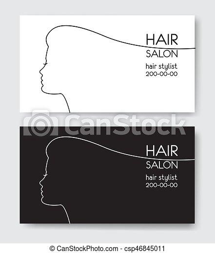 Hair salon business card templates withl woman silhouette vector hair salon business card templates withl woman silhouette silho csp46845011 cheaphphosting Choice Image