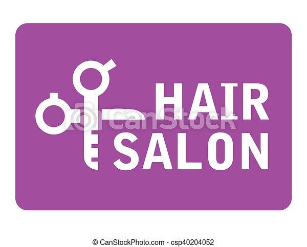 hair salon icon with scissors - csp40204052