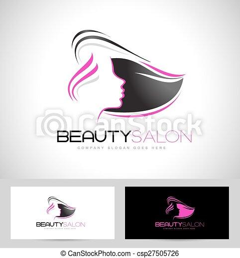 Hair Salon Logo Design Creative Abstract Woman Face And Business Card Template