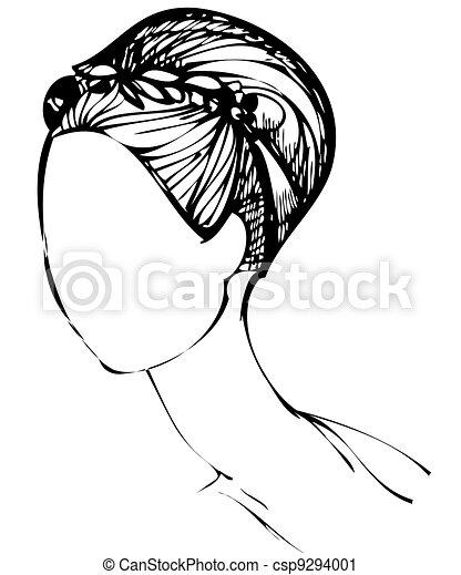 haircut girl - csp9294001