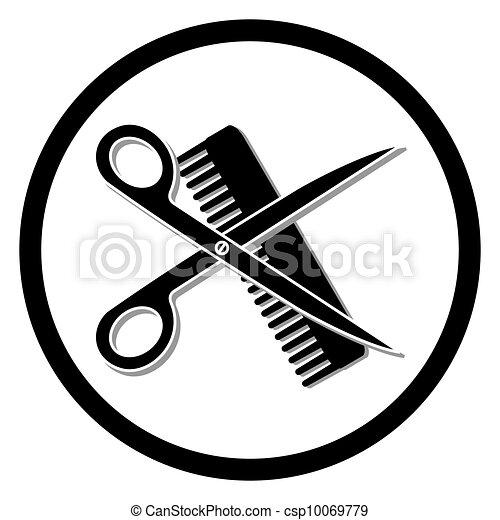 haircut or hair salon symbol vectors illustration search hair salon clip art png hair salon clip art for kids