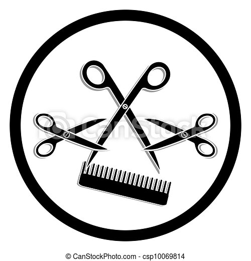 haircut or hair salon symbol vector clip art search illustration rh canstockphoto com Free Beautician Clip Art free hair salon clipart