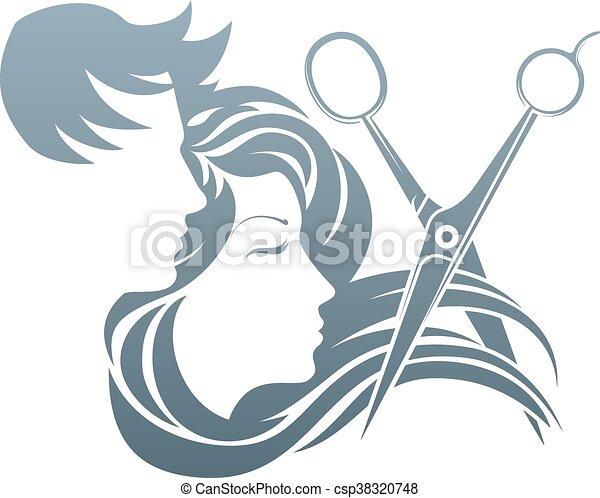 Hair Cutting Scissors Cartoon 45