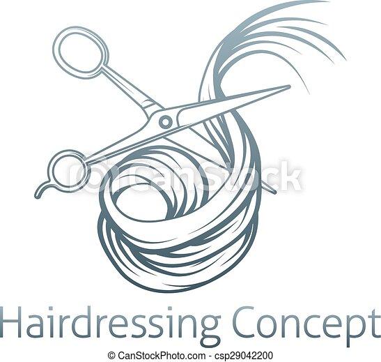 Hairdressers Scissors Cutting Hair - csp29042200