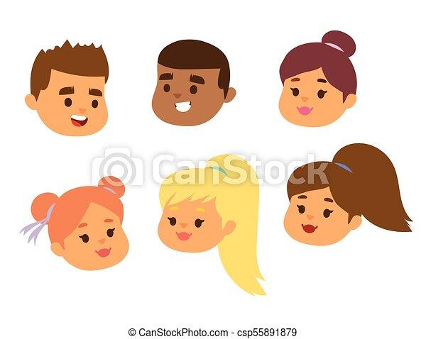 hairstyle , θέτω , τονίζομαι , αναπαριστώ , χαρακτήρας , του προσώπου , γδέρνω , πορτραίτο , άπειρος δεσποινάριο , απομονωμένος , διάφορος , άσπρο , εικόνα , αγόρι , φόντο , γελοιογραφία , μικρόκοσμος , ζεσεεδ , πρόσωπο , μικροβιοφορέας , ή  - csp55891879