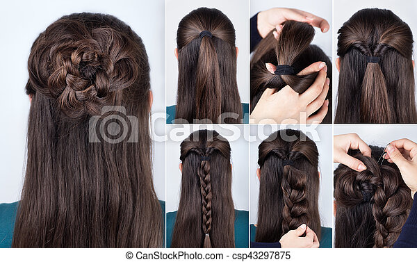 Hairstyle Braided Rose Tutorial Step By Step Hairstyle For Long