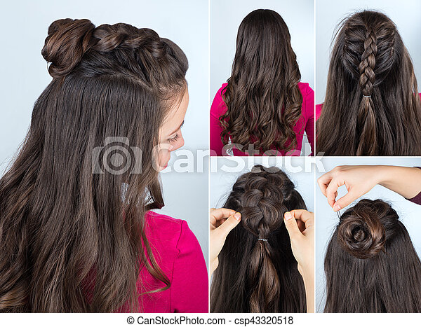 Hairstyle Bun With Plait Tutorial Modern Hairstyle Twisted Bun And