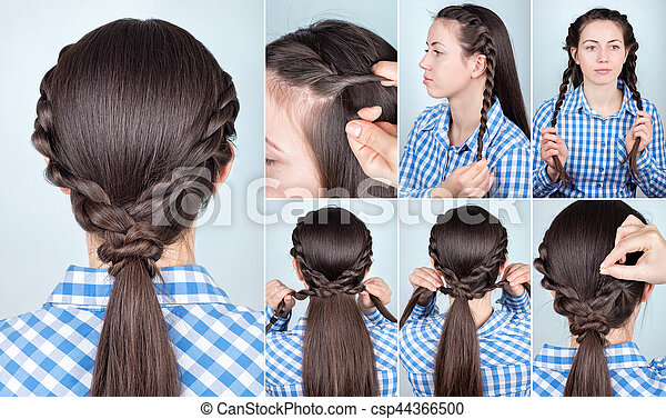 Hairstyle Ponytail Tutorial Simple Hairstyle Ponytail With Twist