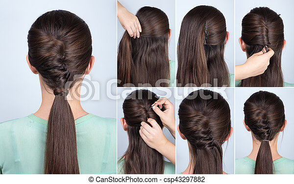 Hairstyle Ponytail With Twist Hair Tutorial