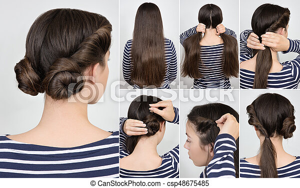 Hairstyle Twisted Buns Tutorial Simple Hairstyle Two Twisted Buns