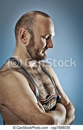 hairy man with beard - csp7688035