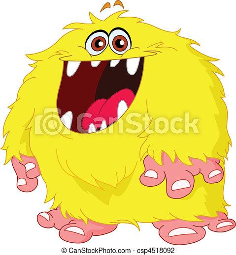 Hairy monster - csp4518092