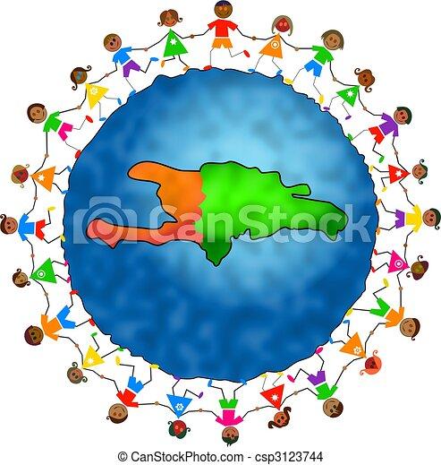haiti kids - csp3123744