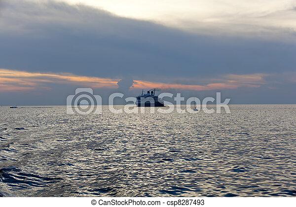 hajó, tenger - csp8287493