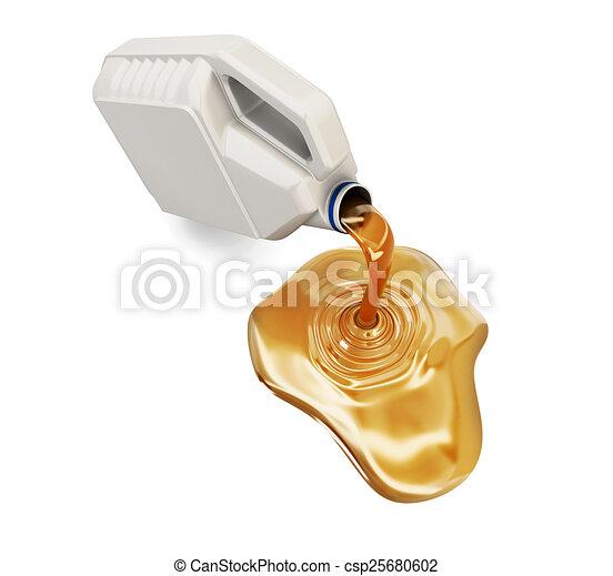 hajtómű olaj, dobozba csomagol, folyó - csp25680602