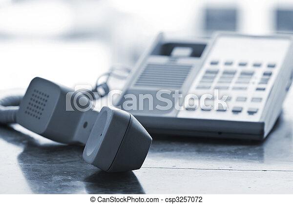 hake, av, telefon, skrivbord - csp3257072