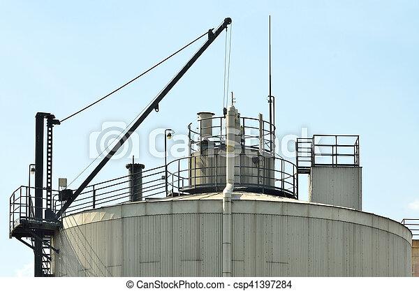 haken, fabrik, dach - csp41397284