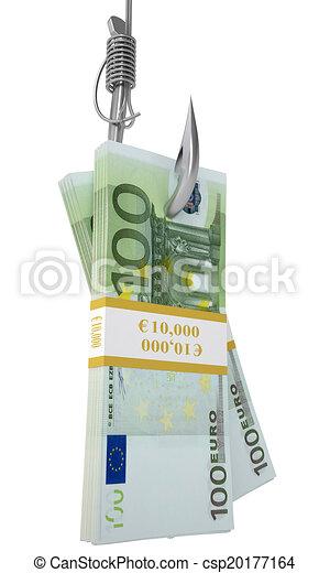 Haken für Geld