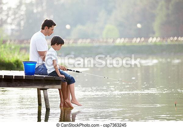 halászat, család - csp7363245