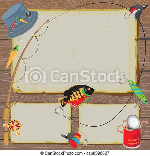 halászat, fél, meghívás - csp8398627