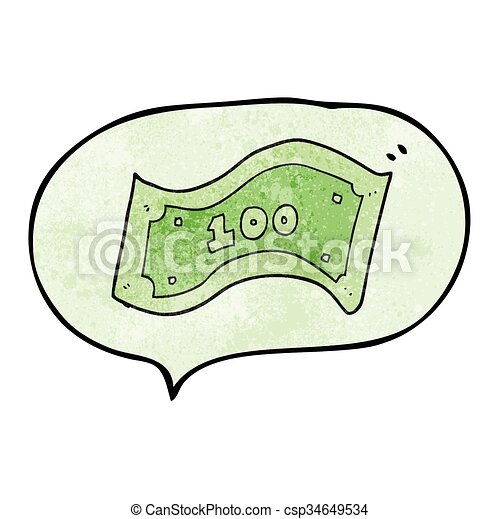 halabarda, dolar, mowa, textured, 100, bańka, rysunek - csp34649534