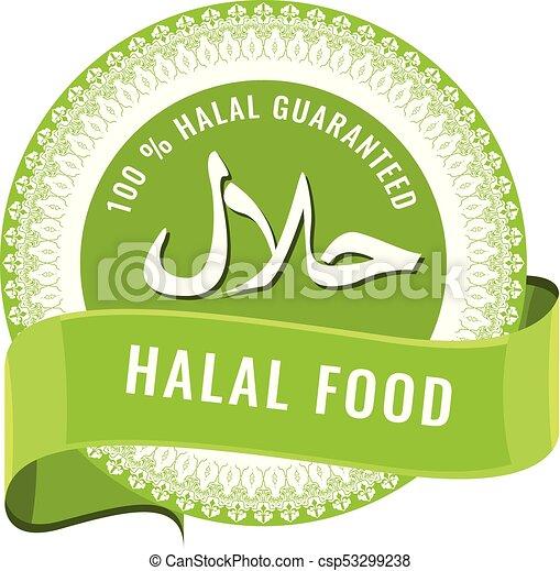 Halal Sign Symbol Design Halal Certificate Tag With Geometric