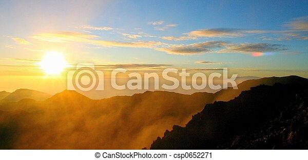 haleakala, východ slunce - csp0652271