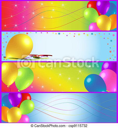 Half Banner Birthday Ads - csp9115732
