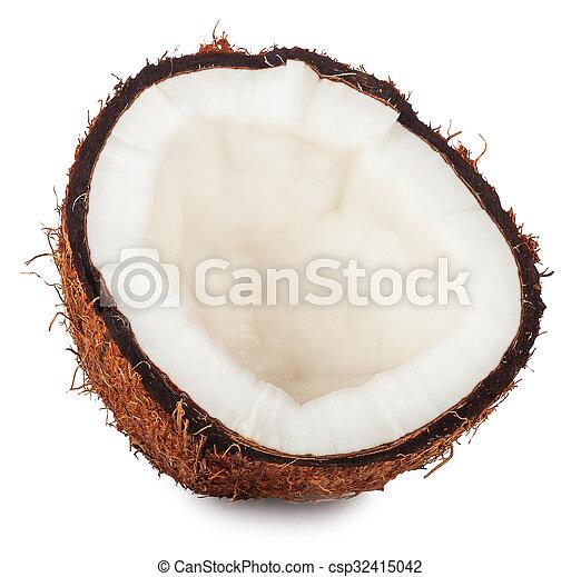 half coconut isolated on white - csp32415042
