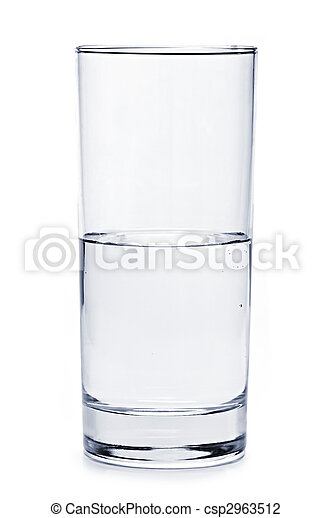 Half full glass of water - csp2963512