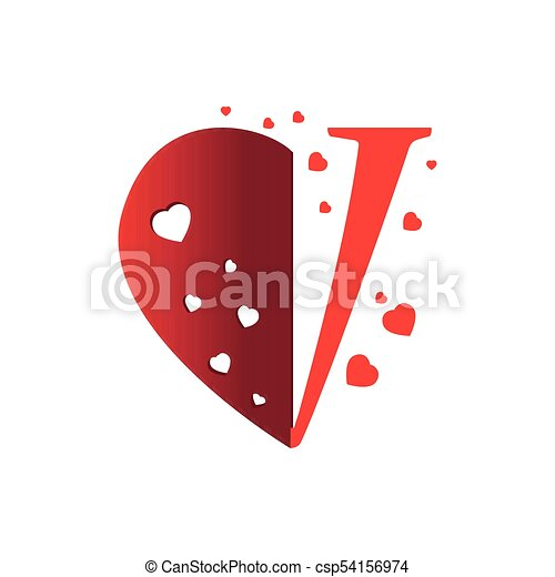 Half Heart Shape Image Vector Illustration Design