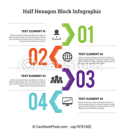 Half Hex Block Infographic - csp19761922