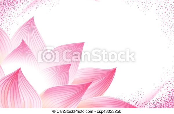 Half Lotus Flower Background Flower Background With A Half Pink