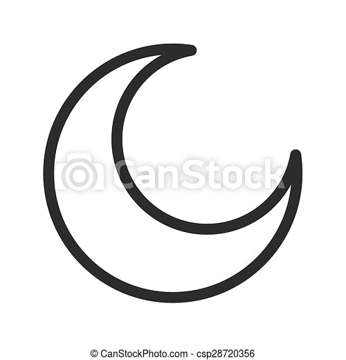 Half Moon Moon Night Light Icon Vector Image Can Also