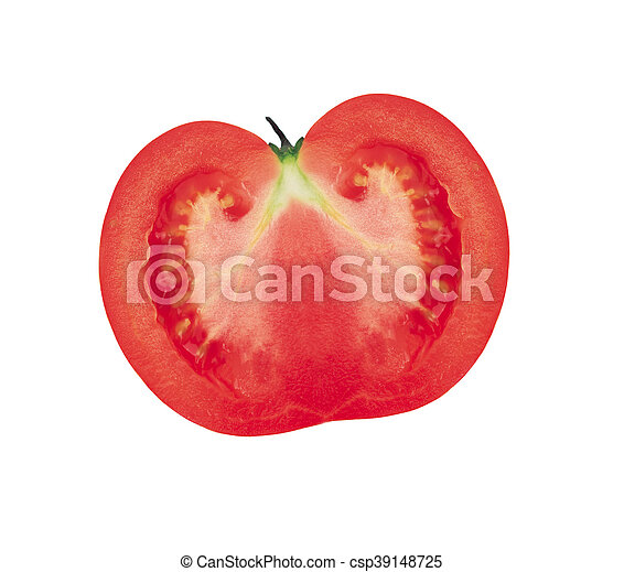 Half of the tomato. Isolated on white background - csp39148725