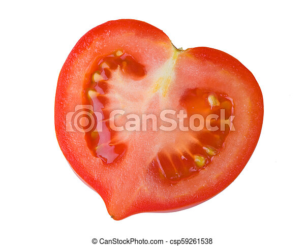 Half of tomato isolated on a white background - csp59261538