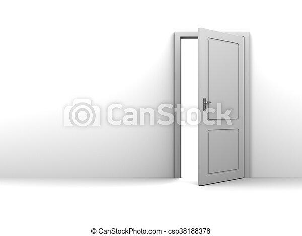 Half Open Door Background   Csp38188378
