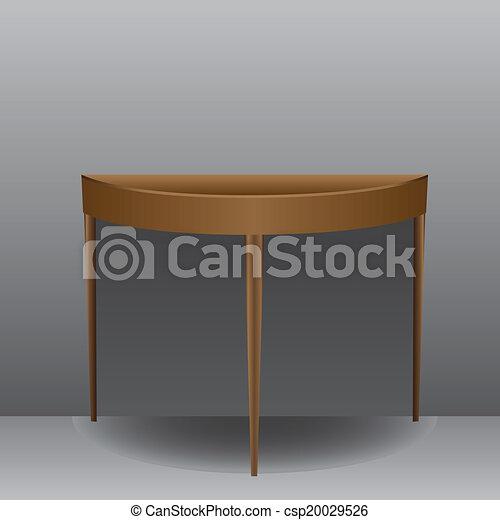 Half Oval Table   Csp20029526